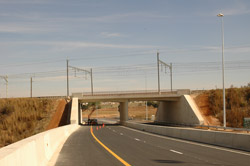 N17 link road from Soweto to Soccer City at Nasrec